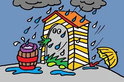 Prší a prší ..