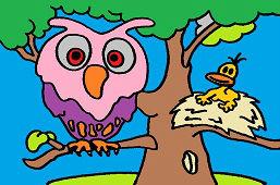 Teta sova a vtáčatko