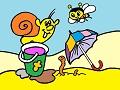 Slimáčik a včielka