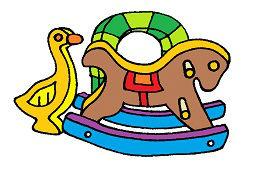 Hojdací koník a drevená kačička