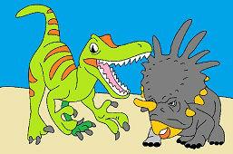 Allosaurus a Styracosaurus
