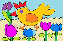 Sliepočka a tulipány