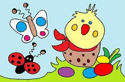 Kuriatko a motýle