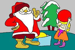 Santa a dievčatko