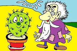 Starec a kaktus
