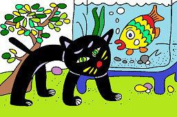 Mačka a akvárium