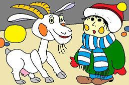Koza a chlapec