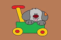 Psíček a vozík