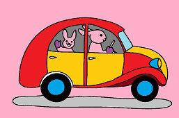 Zajkovia a autíčko