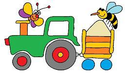 Naložený traktor