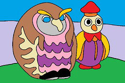 Učiteľka sova a tučniak