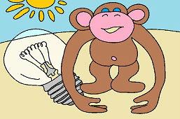 Fialová opička