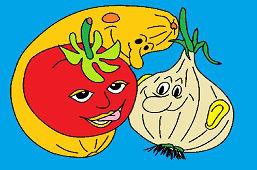 Cibuliačik, rajčinka a tekvička