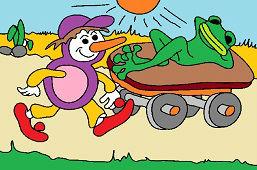Osmijanko a lenivá žaba