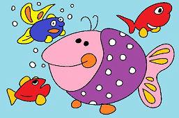 Veľká fialová ryba