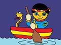 Chlapec a kanoe