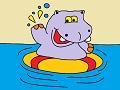 Hroch v bazéne