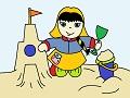 Dievčatko na pieskovisku