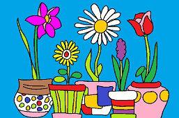 Kvety v kvetináčoch
