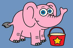 Sloník a vedierko
