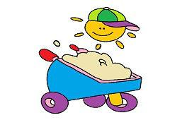 Vozík piesku
