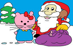 Kitty a Santa Clause