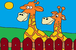Zvedavé žirafy