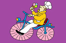 Zmrzlinár na bicykli