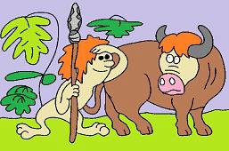 Človiečik a býk