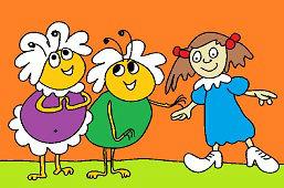 Tety včielky a dievčatko