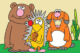 Maco, jež a psík