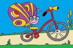 Motýľ a bicykel