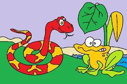 Hladný had a žaba