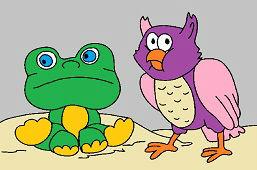 Žabka a sova