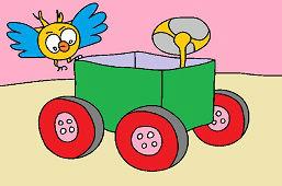 Vozík z papiera