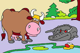 Krava a krokodýl