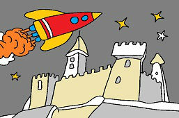 Raketa nad hradom