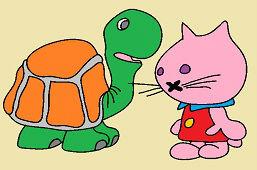 Korytnačka a mačička