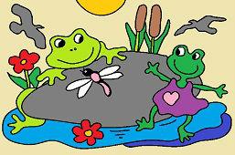 Žabky na kameni