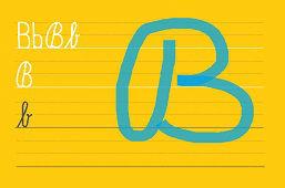 Píšeme písmeno B