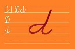 Píšeme písmeno D
