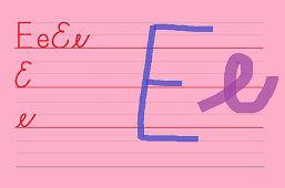 Píšeme písmeno E