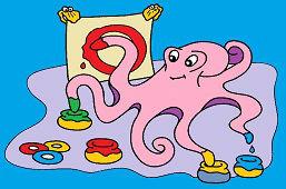 Chobotnica a farby