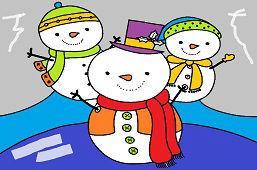 Traja snehuliaci