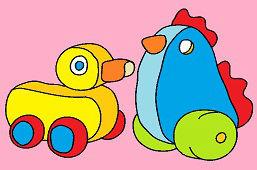 Kohútik a kačička