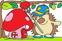 Ježko a domček-muchotrávka