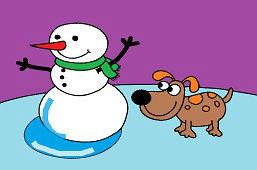 Snehuliačik a psík