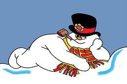 Snehuľko odpočíva