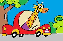 Žirafa za volantom