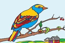 Vtáčik na konári